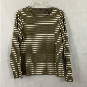 Liz Claiborne size Large stripped long sleeve top